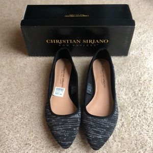 Christian Soriano black and silver flats size 7